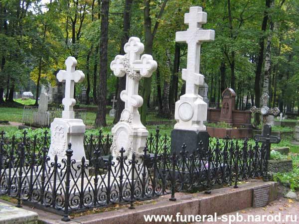 Могила Тютчева Ф.И. и его родственников