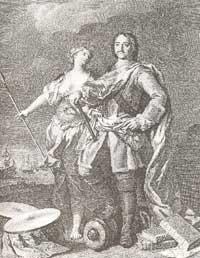 Петр I и Екатерина I