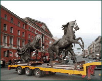 Реставрация скульптур Аничкого моста